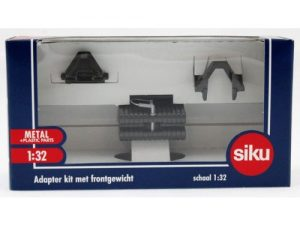 Siku, Adapter kit met frontgewicht antraciet, 1:32