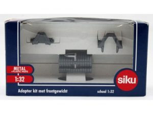 Siku, Adapter kit met frontgewicht grijs, 1:32