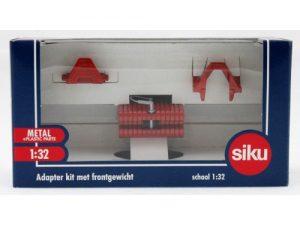 Siku, Adapter kit met frontgewicht rood, 1:32