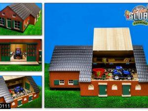 Kidsglobe, Houten boerderij met stal, 1:32